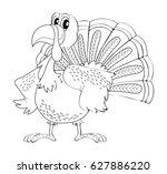animal outline for turkey...   Shutterstock .eps vector #627886220