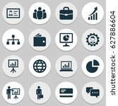 trade icons set. collection of... | Shutterstock .eps vector #627886604