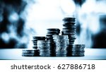 concept save money with stack... | Shutterstock . vector #627886718