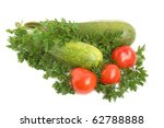 Parsley  Squash And Tomatoes On ...