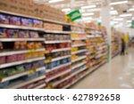 blurred department store... | Shutterstock . vector #627892658