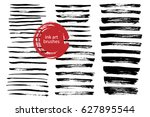 set of vector grungy ink art... | Shutterstock .eps vector #627895544