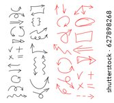 hand drawn vector arrows set | Shutterstock .eps vector #627898268