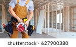 construction worker with... | Shutterstock . vector #627900380