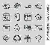 gift icons set.   | Shutterstock .eps vector #627900860