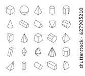 huge set of 3d geometric shapes