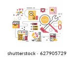 seo   search engine... | Shutterstock .eps vector #627905729