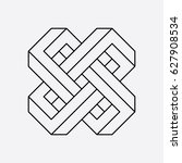 geometric symbol  connected... | Shutterstock .eps vector #627908534