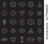 set geometric signs  labels ... | Shutterstock .eps vector #627908630