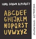 vector female gold lettering... | Shutterstock .eps vector #627909344