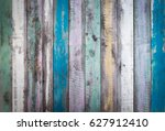 old colored grunge wooden... | Shutterstock . vector #627912410