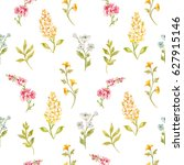 vector watercolor gentle floral ...   Shutterstock .eps vector #627915146
