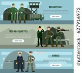 flat military horizontal... | Shutterstock .eps vector #627916973