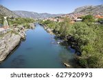 neretva river viewed from the... | Shutterstock . vector #627920993