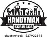 handyman services vector solid...