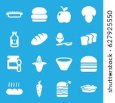 nutrition icons set. set of 16... | Shutterstock .eps vector #627925550
