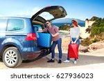 summer car trip and landscape... | Shutterstock . vector #627936023