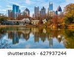 view of lake clara meer ... | Shutterstock . vector #627937244