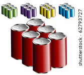 six pack cans | Shutterstock .eps vector #62793727