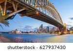magnificence of harbour bridge... | Shutterstock . vector #627937430
