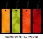 Vector Set Of Four Autumn Labels