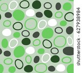 seamless pattern from circles ... | Shutterstock .eps vector #627938984