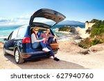car trip  | Shutterstock . vector #627940760