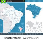 brazil info graphic map vector | Shutterstock .eps vector #627943214