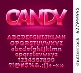 vector sweet candy glossy... | Shutterstock .eps vector #627944993