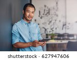 portrait of a casually dressed... | Shutterstock . vector #627947606