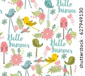 vector seamless pattern with... | Shutterstock .eps vector #627949130