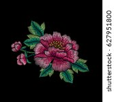 embroidery floral pattern with... | Shutterstock .eps vector #627951800