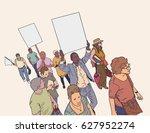 illustration of crowd... | Shutterstock .eps vector #627952274