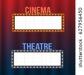 cinema and theatre signboards... | Shutterstock .eps vector #627956450