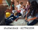 crazy young best friends... | Shutterstock . vector #627961034