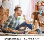 funny time  father and his... | Shutterstock . vector #627965774