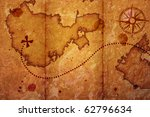 old map with a compass on it | Shutterstock . vector #62796634