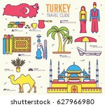 country turkey travel vacation... | Shutterstock .eps vector #627966980