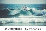 Surfer On The Wave. The Surfer...