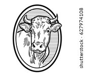 Cows Head. Hand Drawn Sketch I...
