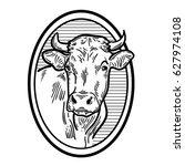 Cows Head. Hand Drawn Sketch I...