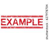 "grunge stamp ""example"". | Shutterstock .eps vector #627978704"