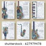 music magazine layout flyer... | Shutterstock .eps vector #627979478