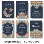 set of turkish flyer page... | Shutterstock .eps vector #627979499