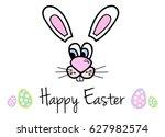 happy easter vector... | Shutterstock .eps vector #627982574
