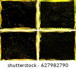 golden grunge frames.grunge... | Shutterstock .eps vector #627982790