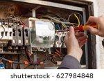repair of old electrical...   Shutterstock . vector #627984848