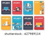 home appliances cards set