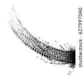 grunge black tire track... | Shutterstock .eps vector #627997040