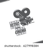 retro video camera cinema icon | Shutterstock .eps vector #627998384